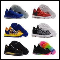 Wholesale Kd Basketball Shoes Sale - KD 10 kids Basketball shoes 2018 hot sales Kevin Durant FMVP sneaker Childrens shoes store free shipping wholesale store size 36-46