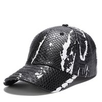 870e402101bd60 2018 new Snakeskin pattern leather fashion snapback hats baseball caps  designer hat gorra brand cap for men women hip hop bone free shipping