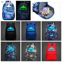 путешествия походы оптовых-12 конструкций 20L Fortnite Battle Royale School Bag ночной рюкзак студент сумка светящиеся рюкзаки школьный открытый сумки 30 шт.