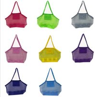Wholesale sand tote - Large Capacity Sand Away Beach Mesh Bag Pouch Kids Children Toys Shell Towl Net Organizer Tote KKA5549