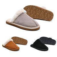 fe707d3902c18 Cheap WGG Women Slides Winter Luxury Designer Indoor Fur Brand Womens Warm  Sandals Slippers House Flip Flops With Spike Sandal
