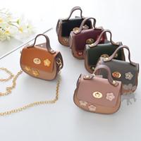 Wholesale Childrens Girls Bags - 2018 new Fashion Wholesale flower Childrens Bags PU Leather Bag Girls Shoulder Bag kids Messenger Bag Mini Girls Bags Cheap Purse A1511