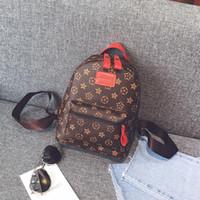 Wholesale vintage floral backpacks for school resale online - Casual PU Leather Backpacks For Teenage Girls Backpack Women Floral Retro Mochila Escolar Shoulder Bag Designer School Bags Bolsa
