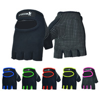 Wholesale mechanics gloves xl - Sports Gloves Athletic Outdoor Accs Women Gym Training Anti Slip Dumbbell Barbell Man Fitness Yoga Bowling Mittens DDA670