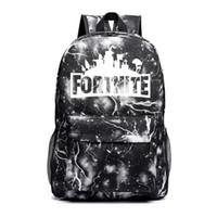 Wholesale multi toy for sale - Fortnite Night Luminous Backpacks Fortnite School Bags for Boys Girls Fortnite Printing shoulders Backpack for kids children toys