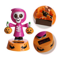 Wholesale Solar Swing Toys - 2018 Hot Car-styling Durable Solar Powered Dancing Halloween Swinging Animated Bobble Dancer Toy Car Decor New Arrival