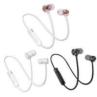 kopfhörer gebaut großhandel-X3 Wireless Gym Bluetooth Kopfhörer Bluetooth Stereo Magnetische Ohrhörer mit eingebauten Kopfhörern Für iphone Universal-Telefone