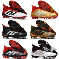 Wholesale massage 18 - 2018 Predator 18 FG Men Soccer Cleats Chaussures De Football Boots Mens High Top Cristiano Ronaldo Soccer Shoes Neymar Football Shoes