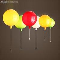 ingrosso palloncino a colori per i bambini-Plafoniere moderne Personality Colorful Balloon Colour Lampade a soffitto per soggiorno Camera da letto per bambini Apparecchi di illuminazione