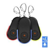 sensor schlüsselbund großhandel-CDT 3 stücke Anti-verlorene Alarm Key Finder Locator Keychain Whistle Sound Mit LED-Licht Mini Anti Verloren Schlüssel Finder Sensor