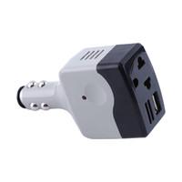 convertisseur de puissance auto achat en gros de-DC 12V / 24V à AC 220V Auto Convertisseur Adaptateur Chargeur Adaptateur Avec Charge USB