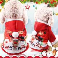 Wholesale anime clothing accessories online - Christmas Pet Dog Sweater Clothes Cosplay Winter Xmas Santa Reindeer Hoodie Costume Hooded Coat Clothing Suit Lovely Puppy Pet Apparel Red