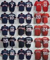 Wholesale Anti Clock - Cleveland Indians Turn Back the Clock Authentic Jerseys #12 Francisco Lindor 22 Jason Kipnis 24 Manny Ramirez 30 Joe Carter 99 Rick Vaughn