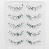 saç seksi toptan satış-3D Vizon Saç Yanlış Kirpik Doğal El Yapımı Güzellik Kalın Uzun Yumuşak kahverengi ve Blac Vizon Kirpikler Sahte Göz Lashes Kirpik Seksi Yüksek Kalite