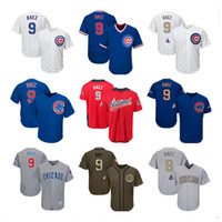 Wholesale women red service - Men Women Youth Cubs Jersey 9 Baez Jersey White Gray Grey Blue Gold Green Salute to Service Players Weekend All Star