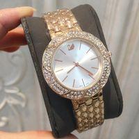 marcas de relógios modernas venda por atacado-2018Moda Top marca Rose ouro mulheres relógio design especial moderno Lady relógio de pulso sexy Limited Edition relógio de diamante cheio de festa de luxo relógio