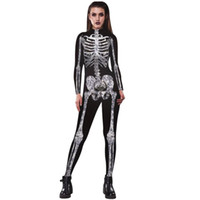 Wholesale women s nurse costumes for sale - Hot Selling Men Womens Skeleton Bones Halloween Cosplay Bodycon Party Sexy Play Clothes Accessory Fast Send Drop Women Costume