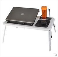 dizüstü bilgisayar masa tepsi masası toptan satış-Katlanır Dizüstü Tablo Tepsi Çok Fonksiyonlu Fan Tablet Danışma Standı Güvenlik Yüksek Mukavemetli Bilgisayar Tutucu En Kaliteli 27wy BB