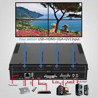 pc processor achat en gros de-1 pcs / Lot, 4 Canal HDMI VGA DVI USB Vidéo Processeur 2x2 TV Projecteur Mur Vidéo Contrôleur, Livraison gratuite