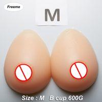 ingrosso protesi del boob-Freeme Seni di silicone artificiale Forms B cup 600G Paia di mastectomia-protesi Falso seno del corpo tette finte per trans crossdresser