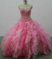 Wholesale Colorful Sweet 16 Dresses - Majoring Beadings Crystals Rhinestones Ball Gown Quinceanera Dresses Sweetheart Colorful Layers Puffy Party Pageant Gowns Sweet 15 BA9000