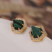 Wholesale Diamond Nail Stud - 2018 Brand name brass material women earrings stereoscopic Drill rivet taper ear nail stud earrings with diamond jewelry Free shipping PS670
