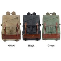 96a8b9293c59 High Quality Outdoor Waterproof Three Colors 33 4 45CM 14 Inch Retro Canvas  Casual Duffel Travel Laptop Bag Backpack For Men