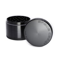 Wholesale space case wholesale - Mettle Space Case Grinder 63 MM Herb Grinder 4 Piece Tobacco Crusher With Triangle Scraper Aluminum Alloy CNC Cigarette Grinder