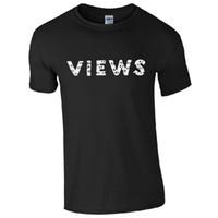 ba68a4b3d Vistas Dos Seis T-Shirt-Drake 6 Álbum Camisa Fan Inspirado Unisex Mens Top  Quality T Camisas Dos Homens de Impressão de Manga Curta O Pescoço