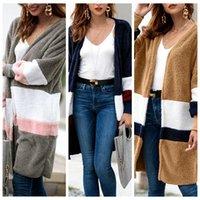 Wholesale girls sweaters jackets resale online - Women Plush Sweater Cardigan Girls Mid length Sweater Coat Casual Long Warm Wool Jackets Overcoat Splice Outwear OOA5960