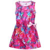 Wholesale costumes for teenagers for sale - Trolls Dress Christmas Costumes For Girls Party girls Dresses summer sleeveless for kids clothes For Children Teenager clothing
