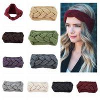 ingrosso i colori intrecciati dei tessuti dei capelli-9 Colori Knitting Twist treccia capelli fascia per capelli paraorecchie tessuto a mano fascia autunno inverno caldo Moda accessori per capelli GGA1246