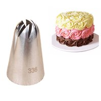 Wholesale large icing tips - #336 Large Size Icing Piping Nozzle Cake Cream Decoration Head Bakery Pastry Tip