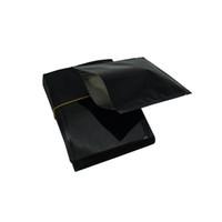 Wholesale wire nuts resale online - 100Pcs cm Open Top Aluminum Foil Bag Black Glossy Heat Sealing Food Dried Snacks Nut Storage Mylar Foil Pouch Bag