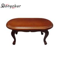 Dongzhur 1:12 Puppenhaus Couchtisch Dollhouse Miniature Dekoration Tisch  Mode Wohnzimmer Möbel Aus Holz Rot Auf Verkauf