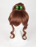 pelucas de la luna del marinero al por mayor-Peluca Sailor Moon Kino Makoto Peluca Sailor Jupiter Peluca estilo Marrón Ponytail Cosplay