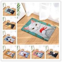 ingrosso cucina a gattino-Kitty Mat Zerbino Digitale Stampa Zerbino Doccia Cucina Toilette Lunga striscia di assorbimento dell'acqua Tappetini antiscivolo Tappeto 18xl2 gg