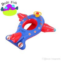 Wholesale Fashion Children Inflatables Tubes Safty Soft Seat Rings Big Aircraft Shape Baby Swimming Ring Suitable Water Sports md ff