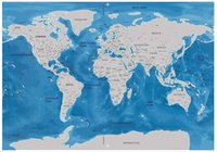 Wholesale Scratching Map - Free shipping World Map Scratch Off Map Ocean Personalized Deluxe Travel Edition Scratch Off Stickers World Map Poster Wall Decor 81.5x57.5c