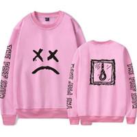 Wholesale Rap Hoodies - Lil Peep Pink Hoodie Men Streetwear Hip Hop Cool Man Rap Stars Pullovers Graphic Hoodies Couples Sweatshirt Brand Clothing 4XL