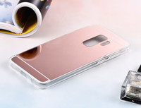 Wholesale black galaxy s4 case - Mirror Case Electroplating Chrome Soft TPU Case Cover FOR Samsung Galaxy S8 S8 PLUS S7 S7 EDGE S4 S5 S6 S6 EDGE A3 A5 A7 2017 NOTE 8 100PCS