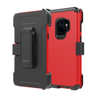Wholesale Hard Holster - For samsung s9 case armor waist belt clip Holster shockproof phone bag case for samsung galaxy s9 s8 plus note 8 hard cover