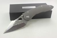 Wholesale custom titanium folding knife - High Quality Samier Knives Custom Stitch Pocket Folding Knife CTS-XHP Blade Sand Blasting Titanium Handle Tactical Survival Camping Knife