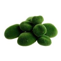 pedras jardim livre venda por atacado-Nova Chegada 8 Pçs / lote Verde Artificial Musgo Pedras Grama Planta Em Vasos Para Casa Jardim Decoração Paisagem frete grátis