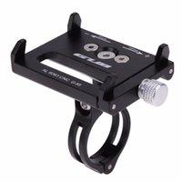 bisiklet için cep telefonu tutacağı toptan satış-4 Renk Metal Anti Slayt Bisiklet Bisiklet Tutucu Telefonu Için Telefon Dağı Gidon Genişletici Tutucu Kolu Cep Telefonu GPS Vb