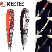 Wholesale Replacement Bag Strap - Meetee Colorful Bags Handbag Belt Flower Leather Strap Shoulder Replacement Bags Strap Bag Accessories Parts