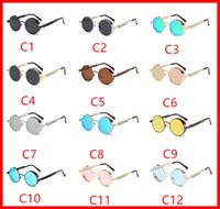 Wholesale Variety Frames - Round polarized sunglasses fashion reflective glasses men and women personality Anti-UV UV Grade UV400 sunglasses a variety of styles to cho