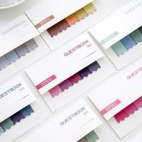 farbe briefpapier kleber aufkleber großhandel-Farbverlauf Index Haftnotizen selbstklebende Registerkarte Etiketten Haftnotizen Planer Aufkleber Notizen Büro Schreibwaren Schulbedarf