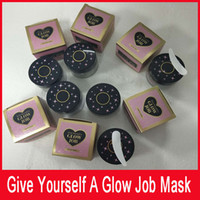 Wholesale Glowing Gel Nail - New 6 colors Radiance Boosting glow job mask Glitter face mask with real gold 30 minutes relaxing smooth soft facial reveal 50ml...
