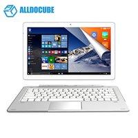 intel ghz venda por atacado-ALLDOCUBE iWork Pro 2 em 1 Tablet PC 10,1 polegadas Win 10 + Android 5.1 Intel Trail Cherry x5-Z8350 Quad Core 1,44 GHz 4 GB de RAM